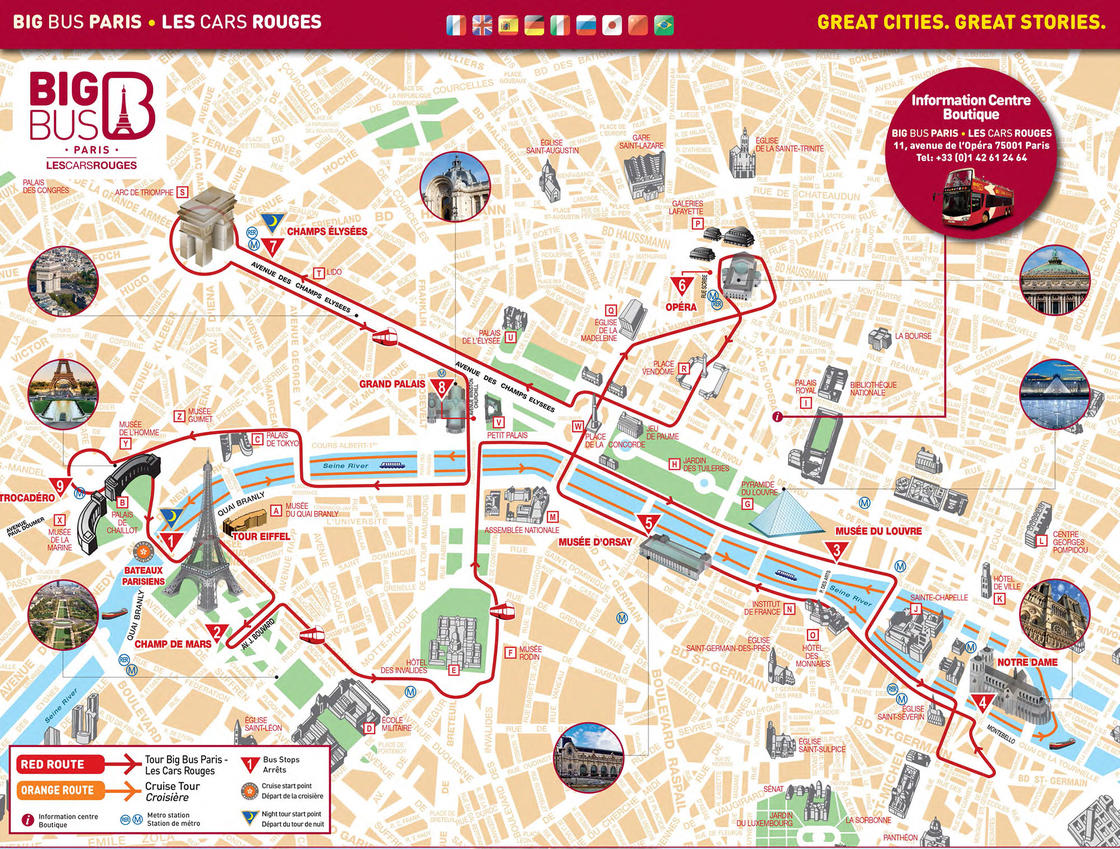 Mapas tur sticos de par s - Oficina turismo paris en madrid ...
